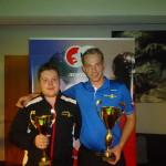 Dávid Erös 2. místo, Adam Houdek, 1. místo MČR 8 ball