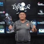 Vítěz mužského EuroTouru Mario He, Rakousko